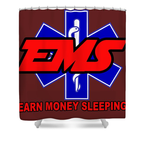 Earn Money Sleeping Shower Curtain