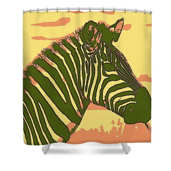 Earned Stripes Shower Curtain