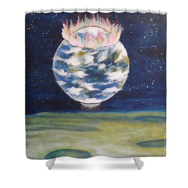 Earth Aura Shower Curtain