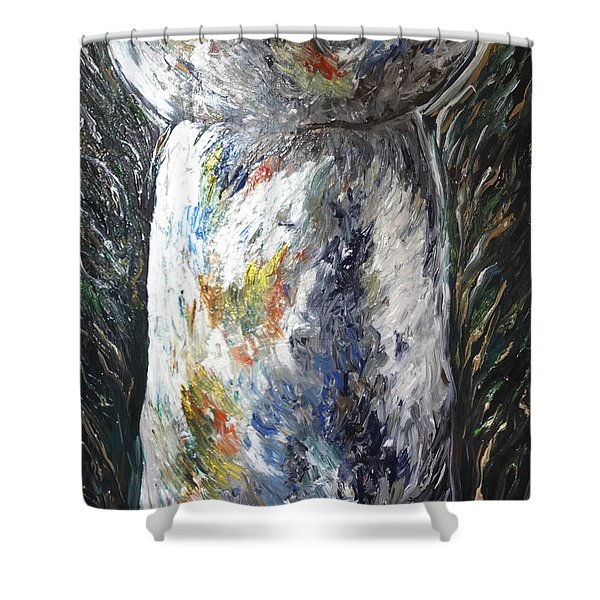 Earth Latte Stone Shower Curtain