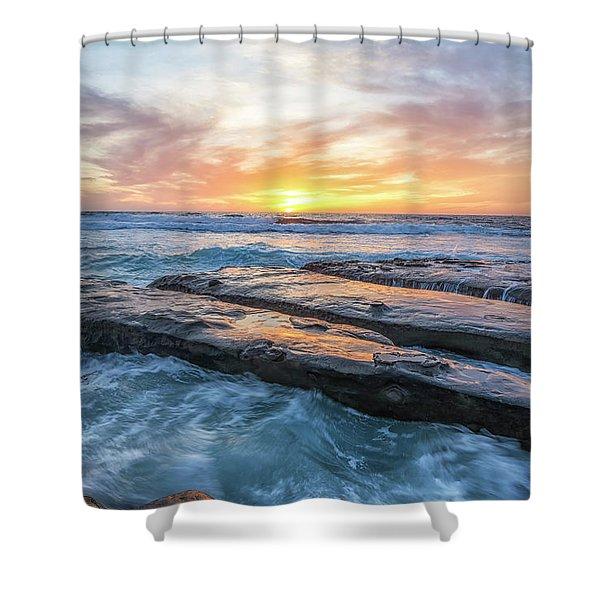 Earth, Sea, Sky Shower Curtain