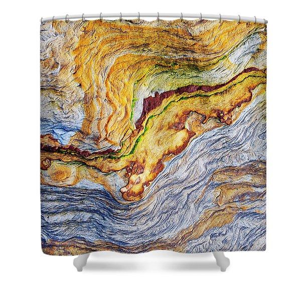 Earth Stone Shower Curtain