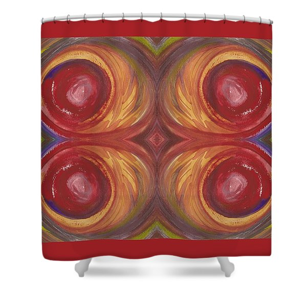 Earth Storm Quad Shower Curtain