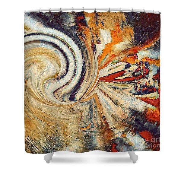 Earth Tones Shower Curtain