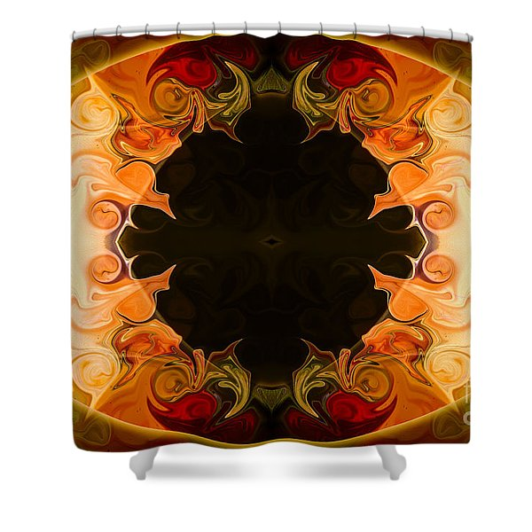 Earthly Undecided Bliss Abstract Organic Art By Omaste Witkowski Shower Curtain