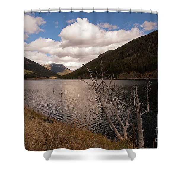 Earthquake Lake Shower Curtain
