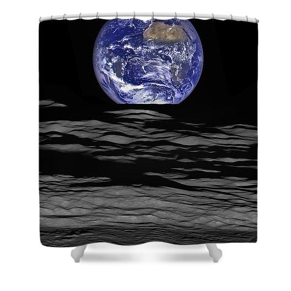 Earthrise Shower Curtain