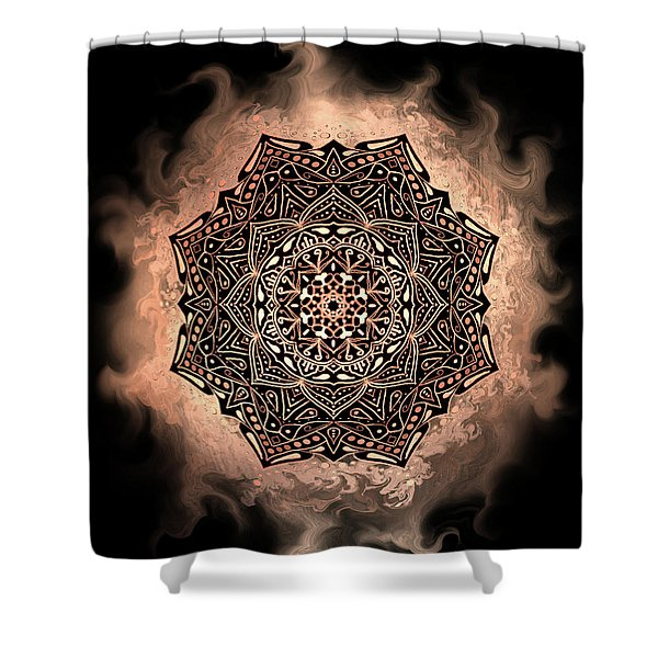 Earthy Mandala Shower Curtain