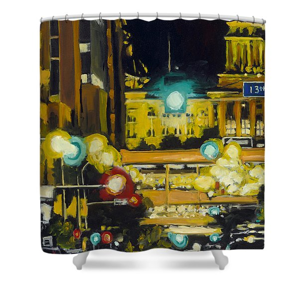 East 13th And Locust St Des Moines Shower Curtain