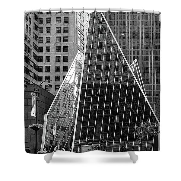 East 42nd Street, New York City  -17663-bw Shower Curtain