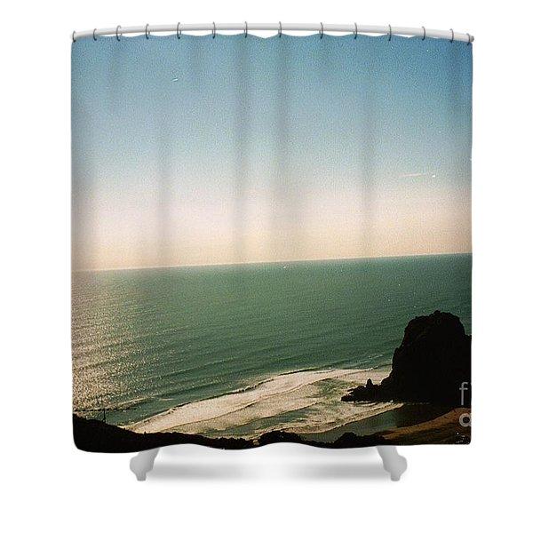 East Coastline In New Zealand Shower Curtain