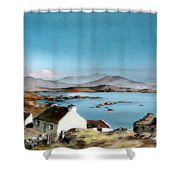 East End, Inishboffin, Galway Shower Curtain