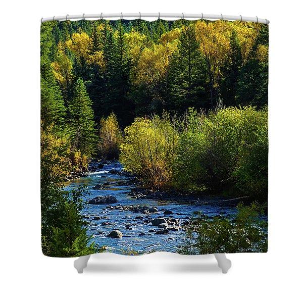 East Fork Autumn Shower Curtain