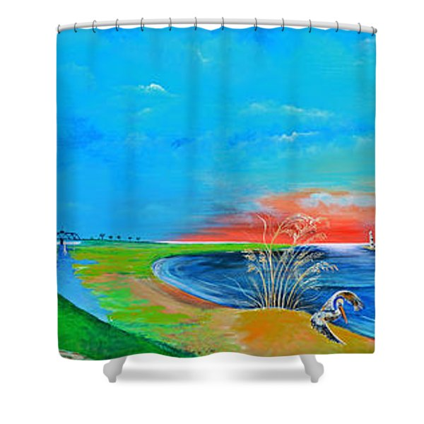 East Of The Cooper Shower Curtain