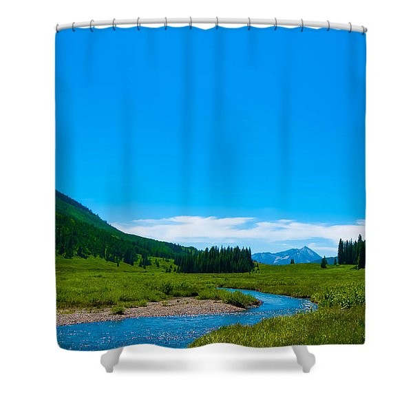 East River From Gothic Road Shower Curtain