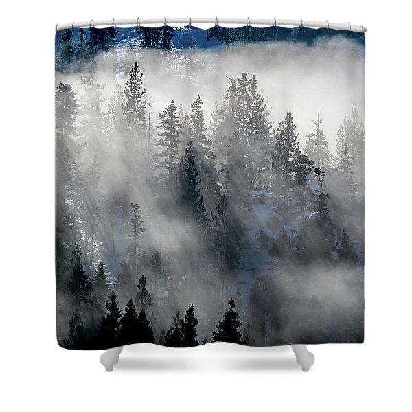 East Shore Inversion, Lake Tahoe Shower Curtain
