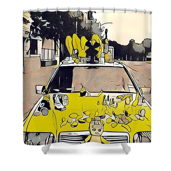 East Side Electric Shower Curtain