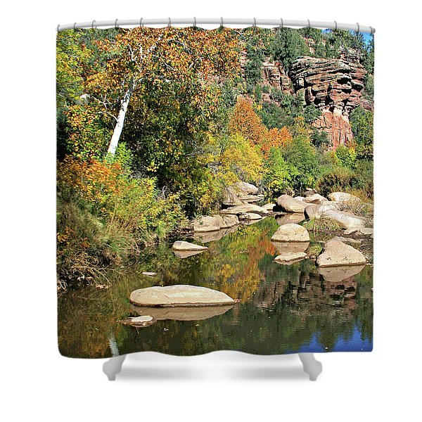 East Verde Fall Crossing Shower Curtain