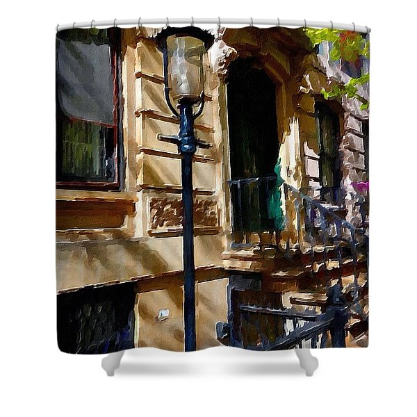 East Village New York Townhouse Shower Curtain