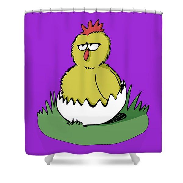 Easter Chicken Shower Curtain