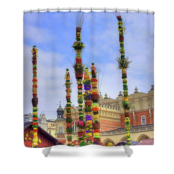 Easter Market Shower Curtain