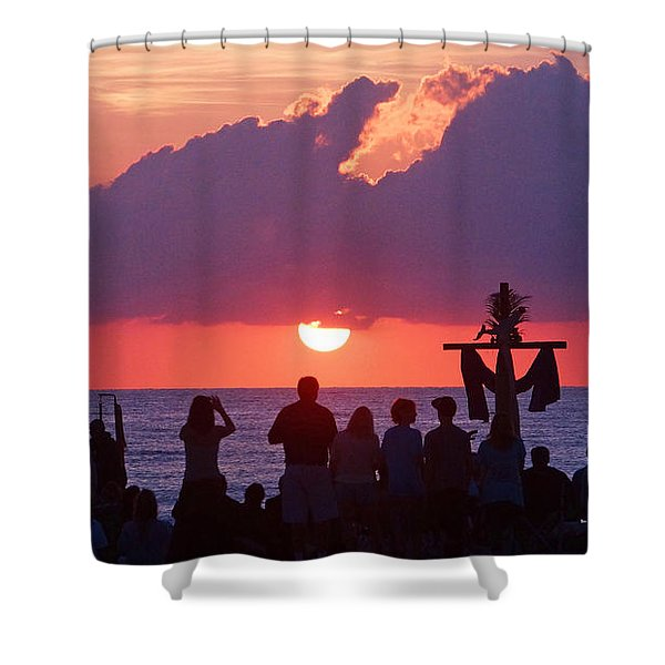Easter Sunrise Beach Service Shower Curtain