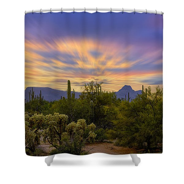 Easter Sunset H18 Shower Curtain