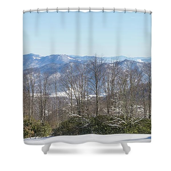 Easterly Winter View Shower Curtain