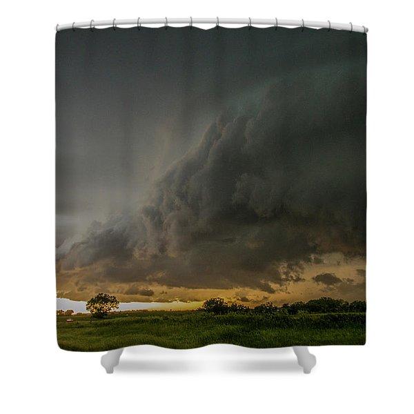 Eastern Nebraska Moderate Risk Chase Day Part 2 004 Shower Curtain