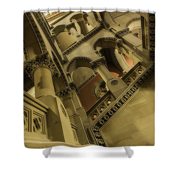 Eastern Staircase Shower Curtain