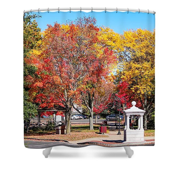 Easthampton Center In The Fall Shower Curtain