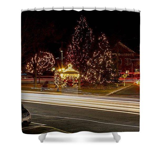 Shower Curtain featuring the photograph Easthampton Light Trails by Sven Kielhorn