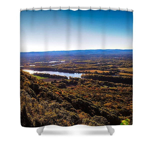 Shower Curtain featuring the photograph Easthampton View From Summit House by Sven Kielhorn