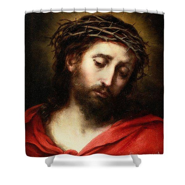 Ecce Homo, Or Suffering Christ Shower Curtain