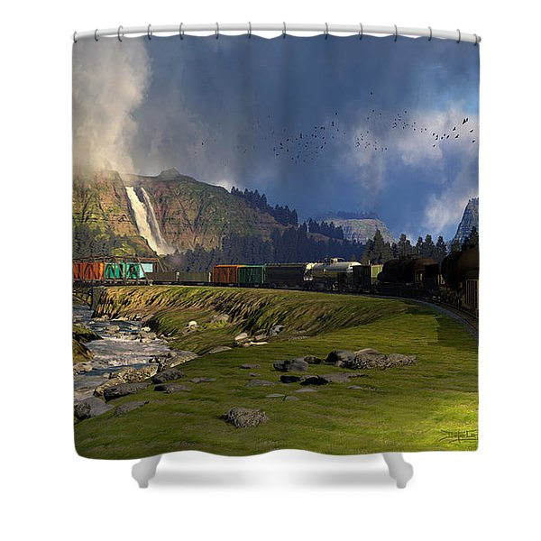 Echoes From The Caboose Shower Curtain