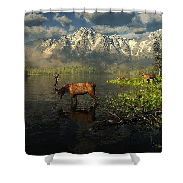Echoes Of A Lost Frontier Shower Curtain