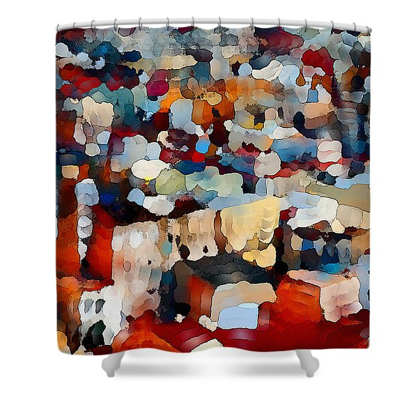 Echoes Of Civilization  Shower Curtain