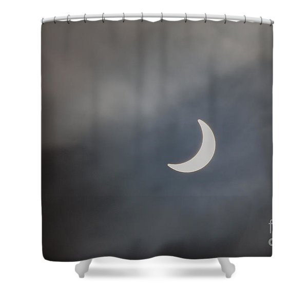 Shower Curtain featuring the photograph Eclipse 2015 - 2 by Jeremy Hayden