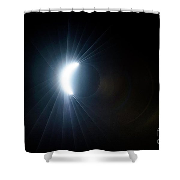 Eclipse Before Totality Shower Curtain