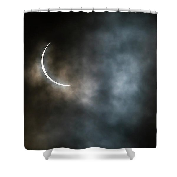 Eclipsed Crescent IIi Shower Curtain
