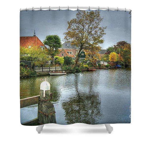 Edam Waterway In Holland Shower Curtain