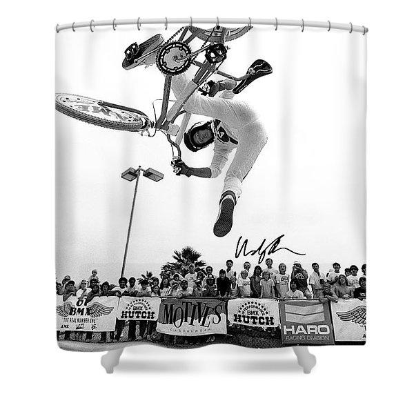 Eddie Fiola Freestylin' Cover 1986 Shower Curtain