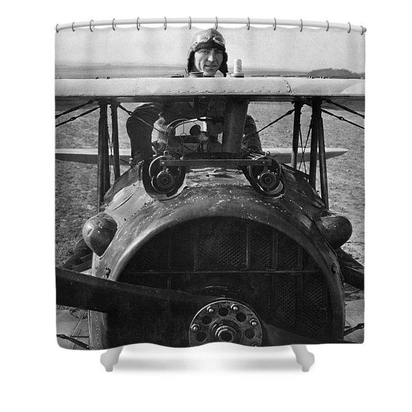 Eddie Rickenbacker - World War One - 1918 Shower Curtain