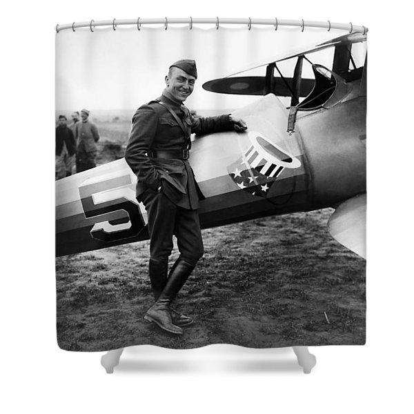 Eddie Rickenbacker - Ww1 American Air Ace Shower Curtain