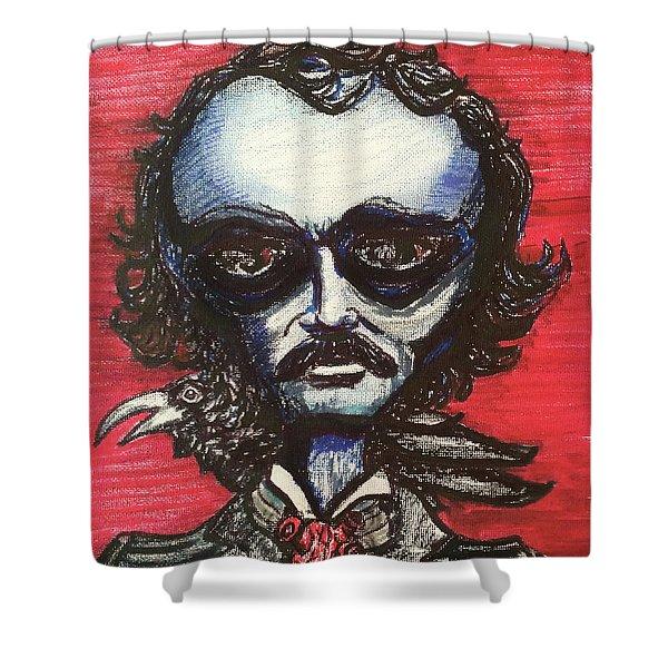 Edgar Alien Poe Shower Curtain