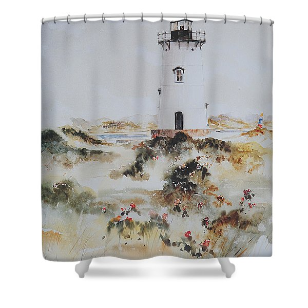 Edgartown Light Marthas Vineyard Shower Curtain
