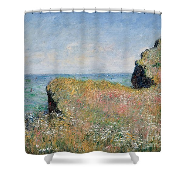 Edge Of The Cliff Pourville Shower Curtain