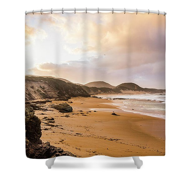 Edge Of Western Shores Shower Curtain