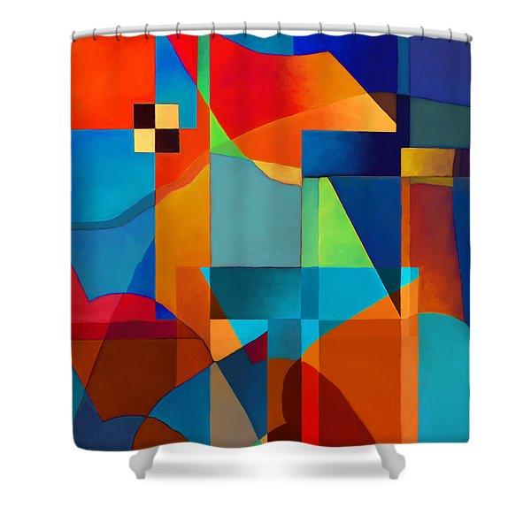 Edges Shower Curtain