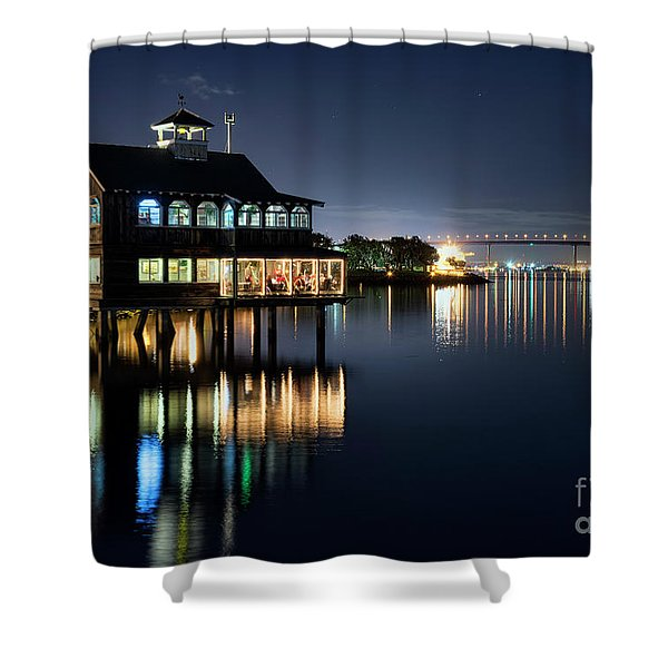 Pier Cafe Shower Curtain